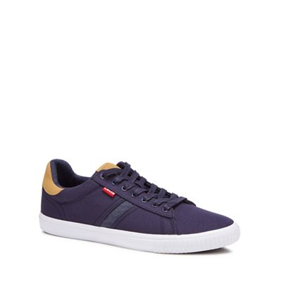 levi's navy 'skinner' canvas trainers