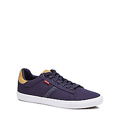 Levi's - Navy 'Skinner' canvas trainers