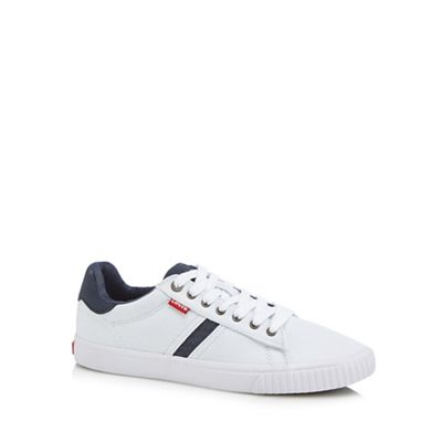 Levi's - White canvas 'Skinner' trainers