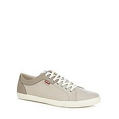 Levi's - Beige canvas 'Woods' trainers