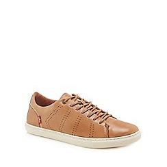 Levi's - Tan leather 'Vernon' trainers