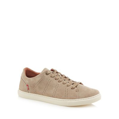 Levi's - Taupe suede 'Vernon' trainers