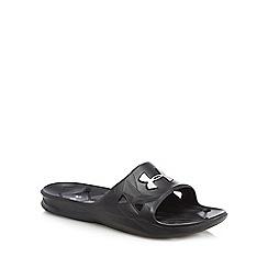 Under Armour - Black 'UA Locker III' slip-on sandals