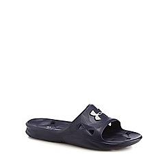 Under Armour - Blue 'UA Locker III' slip-on sandals