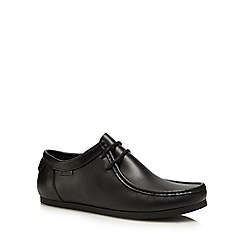 Ben Sherman - Black leather 'Bilby' lace up shoes