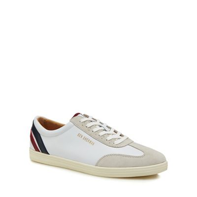 Ben Sherman - White leather 'Albion' trainers