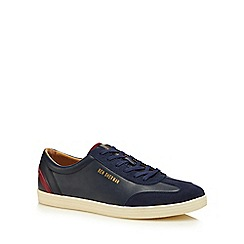Ben Sherman - Navy leather 'Albion' trainers