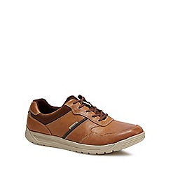 Rockport - Tan leather 'Randle' shoes