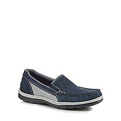 Rockport - Dark blue suede 'Get Your Kicks' slip-on shoes