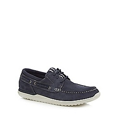 Rockport - Navy leather 'Langdon' boat shoes