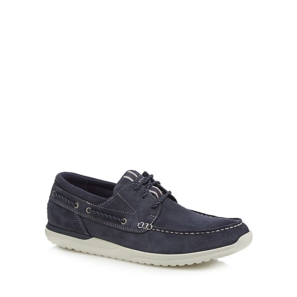 shoes 'Langdon' leather boat Navy Rockport wF7zIqnE