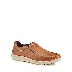 Rockport - Tan leather 'Randle' slip-on shoes