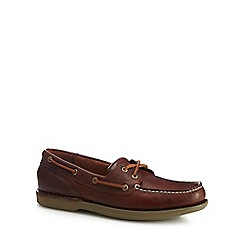 Rockport - Brown leather 'Ports Of Call' boat shoes