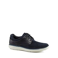Rockport - Navy suede 'Zaden' lace up shoes