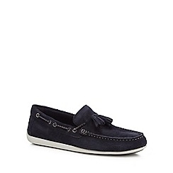 Rockport - Navy suede 'Bennett Lane 4' loafers