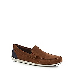 Rockport - Brown suede 'Bennett Lane 4 Venetian' loafers