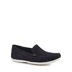 Rockport - Navy suede 'Bailey' loafers