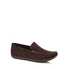 Rockport - Dark brown suede 'Bayley Venetian' loafers