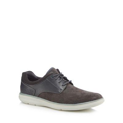 Rockport - Grey suede 'Zaden' lace up shoes
