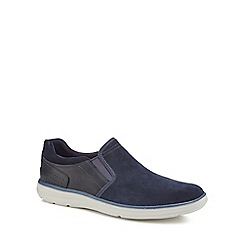 Rockport - Navy suede 'Zaden' slip-on shoes