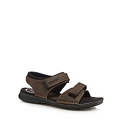 Rockport - Brown leather 'Darwyn' sandals