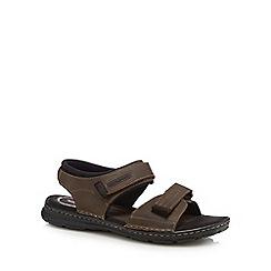 Rockport - Brown leather 'Darwyn' sandals