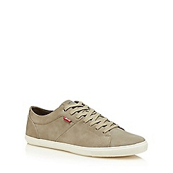 Levi's - Grey 'Wood' lace up trainers