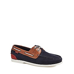 Chatham Marine - Navy nubuck 'Galley II' boat shoes