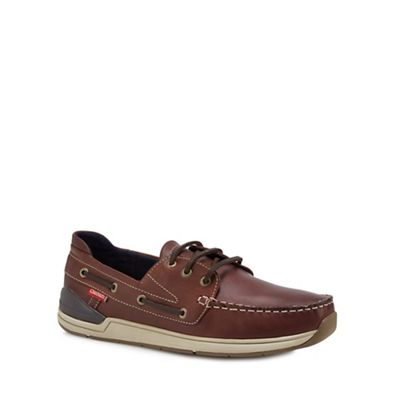 Chatham Marine - Tan leather 'Becon' boat shoes