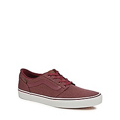 Vans - Red 'Chapman' lace up trainers