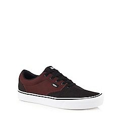 Vans - Red 'Lautner Lite' lace up trainers