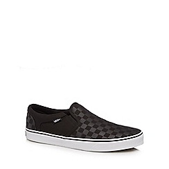 Vans - Black checked 'Asher' slip-on trainers
