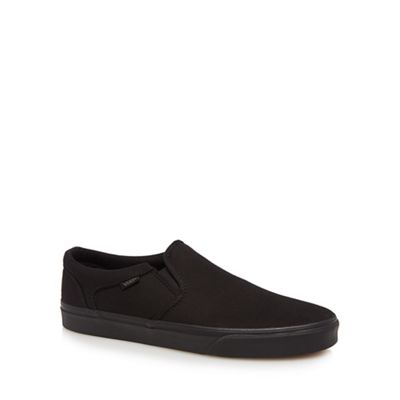 Vans - Black 'Asher' slip-on trainers