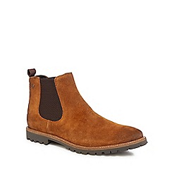 Base London - Tan suede 'Turret' Chelsea boots