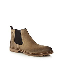 Base London - Taupe suede 'Turret' Chelsea boots