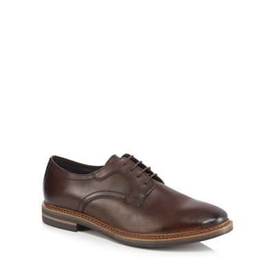 Base London - Brown leather 'Spencer' lace up shoes