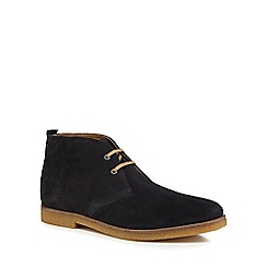 Base London - Navy suede 'Perry' chukka boots