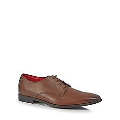 Base London - Brown leather 'Shilling' Derby shoes