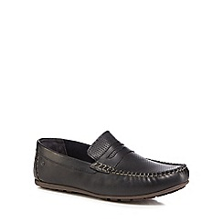 Base London - Navy leather 'Attwood' loafers