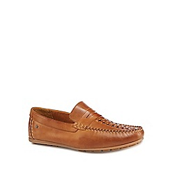 Base London - Tan leather 'Palmer' loafers