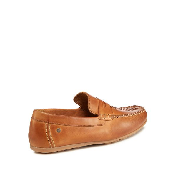'Palmer' London leather Tan loafers Base q14twgW1