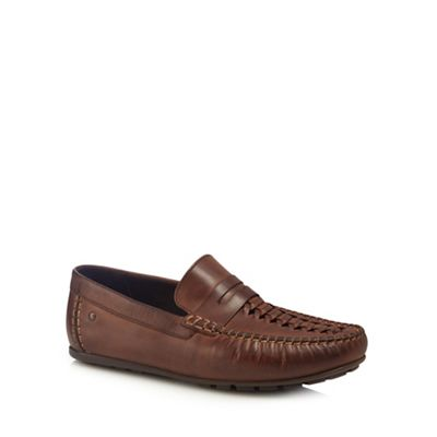 Base London - Brown leather 'Palmer' loafers