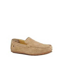 Base London - Taupe suede 'Henton' slip-on shoes