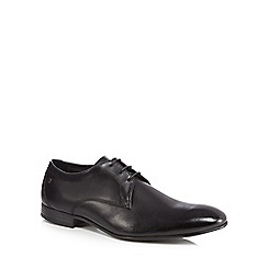 Base London - Black leather 'Elgar' Derby shoes