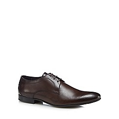 Base London - Dark brown leather 'Elgar' Derby shoes