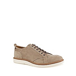 Base London - Grey suede 'Hydra' lace-up shoes