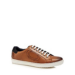Base London - Tan leather 'Wafer' trainers
