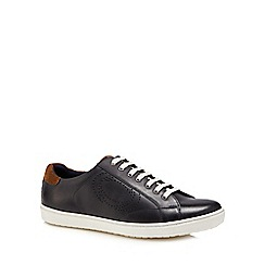Base London - Navy leather 'Wafer' trainers