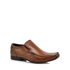 Base London - Tan leather 'Acrobat' slip-on shoes