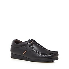 Base London - Black leather 'Storm' lace up shoes